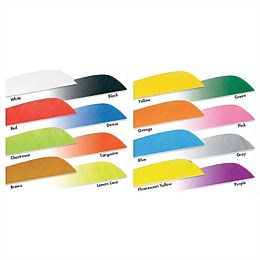 Parabolic 4 inch Feather (Solid Colour 20 Pack)