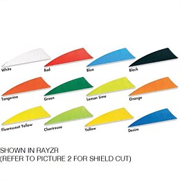 Shield 3 Inch Feather (Solid Colour 20 Pack)